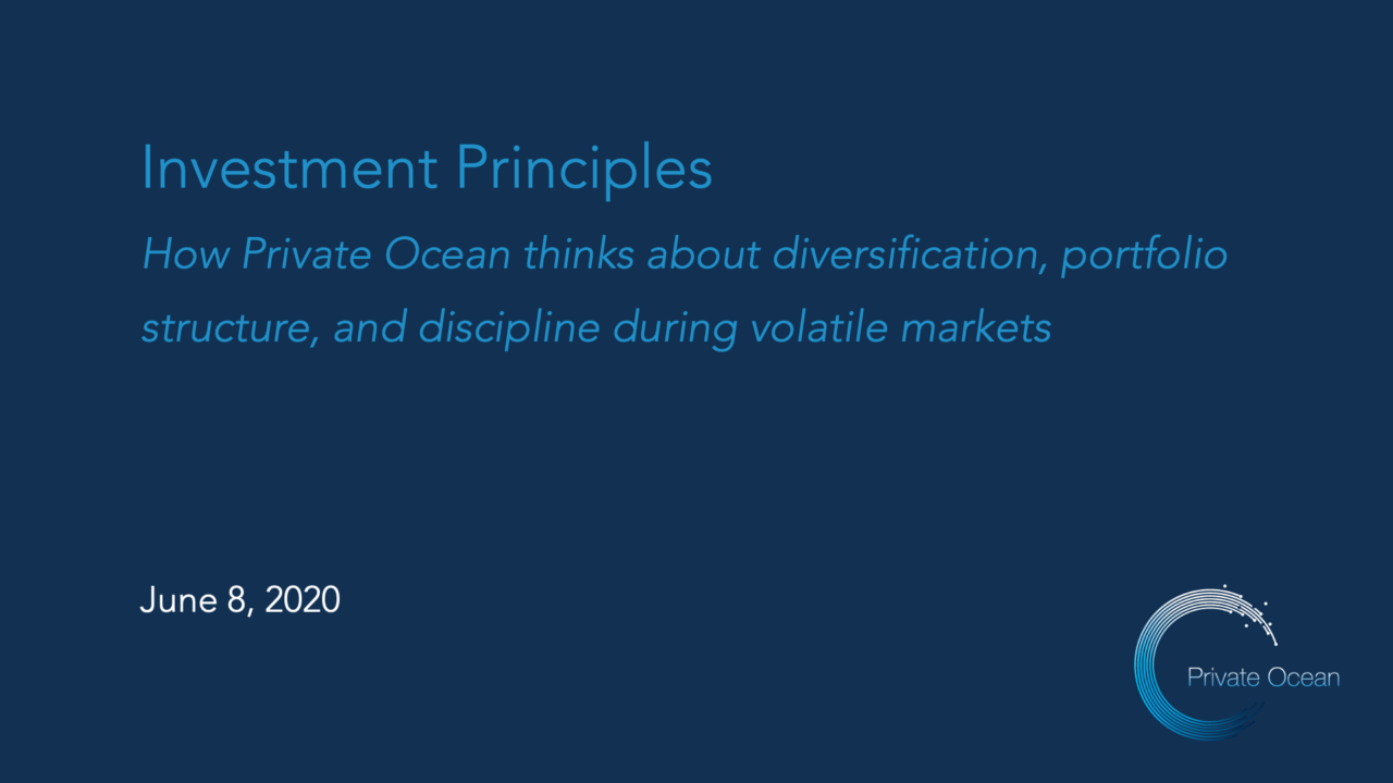 Investment Principles During Volatile Markets