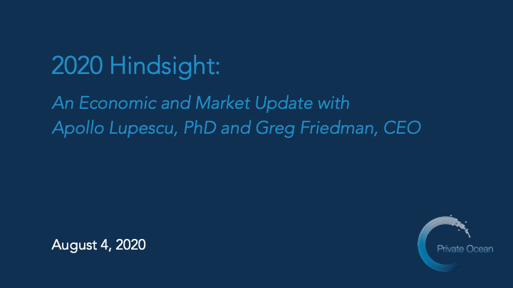 Economic and Market Update for 2020 with Apollo Lupescu and Greg Friedman
